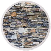 Flagstone Wall Round Beach Towel