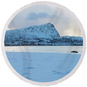 Flakstad, Lofoten, Round Beach Towel by Dubi Roman