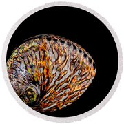 Flame Abalone Round Beach Towel