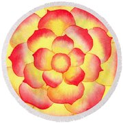 Flame Tip Watercolor Round Beach Towel