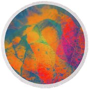 Flaming Foliage 1 Round Beach Towel