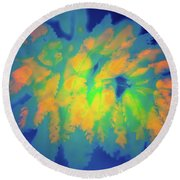 Flaming Foliage 2 Round Beach Towel