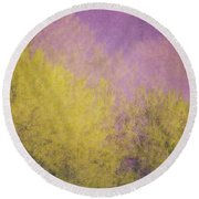 Flaming Foliage 3 Round Beach Towel