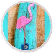 Flamingo Round Beach Towel by Ann Michelle Swadener