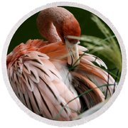 Flamingo Boudoir Round Beach Towel