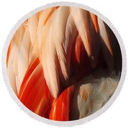 Flamingo Feathers Round Beach Towel
