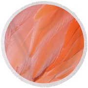 Flamingo Flow 4 Round Beach Towel by Michael Hubley