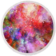 Flammable Imagination  Round Beach Towel