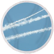 Flares Round Beach Towel