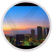 #flashbackfriday - The #sunset Over Round Beach Towel