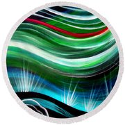 Flashes In Memory. Spring Round Beach Towel