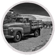 Flat Bed Chevrolet Truck Dsc05135 Round Beach Towel