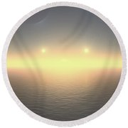 Flat Lights Round Beach Towel by Robert Thalmeier