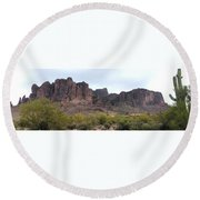Flatiron Of The Superstition Mountains Round Beach Towel