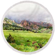 Flatirons Vista Round Beach Towel