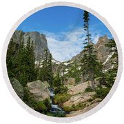 Flattop Mountain Round Beach Towel