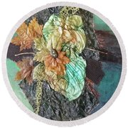Flavors Of Fall Round Beach Towel