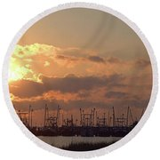 Fleet Round Beach Towel by Newwwman