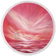 Flight At Sunset Round Beach Towel
