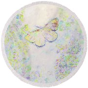 Round Beach Towel featuring the photograph Flight Of Dreams by Kerri Farley