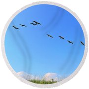 Flight Of Eight Round Beach Towel