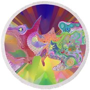 Flight Of Evolution Round Beach Towel