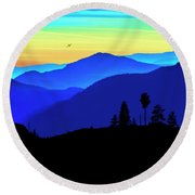 Flight Of Fancy Round Beach Towel