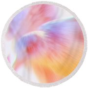 Flight Of The Seagull  Round Beach Towel