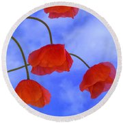 Flight Red Round Beach Towel
