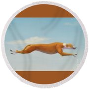 Flight Risk Round Beach Towel