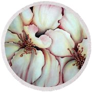 Flighty Floral Round Beach Towel