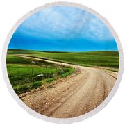 Flint Hills Spring Gravel Round Beach Towel