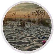 Flipflops On The Beach Round Beach Towel