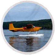 Float Plane Two Round Beach Towel