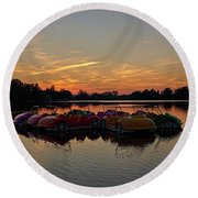Round Beach Towel featuring the photograph Floaters by Tgchan