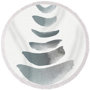 Floating 1- Zen Art By Linda Woods Round Beach Towel by Linda Woods