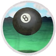 Floating 8 Round Beach Towel