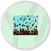 Floating Away Round Beach Towel