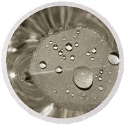 Floating Droplets Round Beach Towel