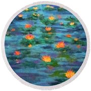 Floating Gems Round Beach Towel