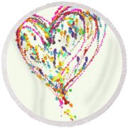 Floating Heart Round Beach Towel