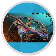 Floating In The Universe Round Beach Towel