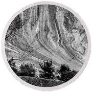 Floating Oil Spill On Water Round Beach Towel