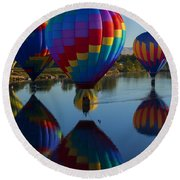 Floating Reflections Round Beach Towel