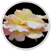 Floating Rose 3894 Round Beach Towel