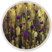 Floating Royal Roses 1 Round Beach Towel