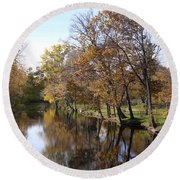 Flood Plain Round Beach Towel