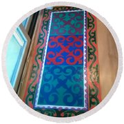 Floor Cloth Arabesque Round Beach Towel