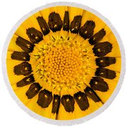 Flora Sunshine Round Beach Towel