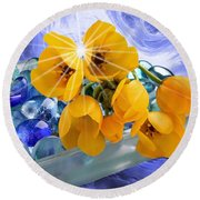 Floral 6 Round Beach Towel